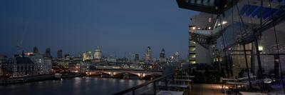Oxo Tower Restaurant-Wharf, London Panorama at Dusk-Richard Bryant-Framed Photographic Print