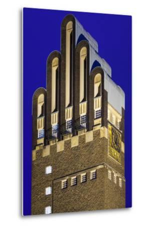Germany, Hesse, Darmstadt, Mathildenhohe Kunstlerkolonie Park, Wedding Tower-Walter Bibikow-Metal Print