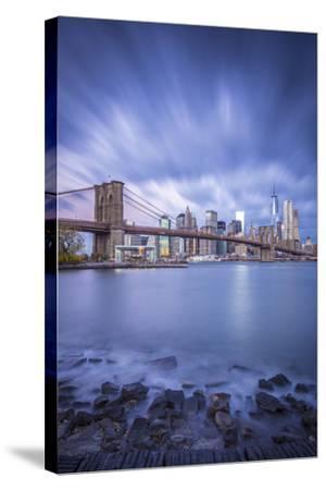 Brooklyn Bridge and Lower Manhattan/Downtown, New York City, New York, USA-Jon Arnold-Stretched Canvas Print