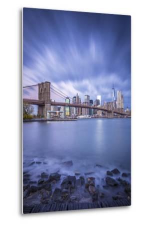 Brooklyn Bridge and Lower Manhattan/Downtown, New York City, New York, USA-Jon Arnold-Metal Print