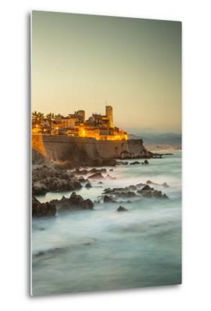 Old Town and Sea Wall in Antibes, Alpes-Maritimes, Provence-Alpes-Cote D'Azur-Jon Arnold-Metal Print
