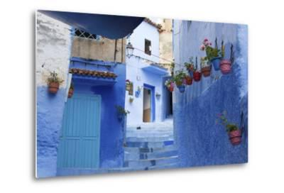 North Africa, Morocco, Chefchaouen District.Details of the City-ClickAlps-Metal Print