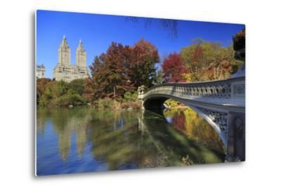 Usa, New York City, Manhattan, Central Park, Bow Bridge-Michele Falzone-Metal Print