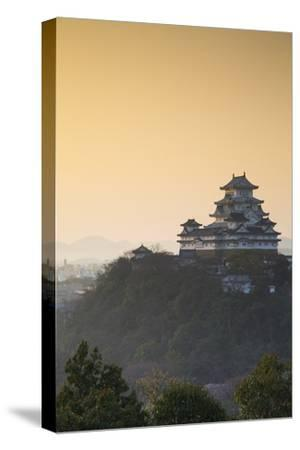 Himeji Castle (Unesco World Heritage Site) at Dawn, Himeji, Kansai, Honshu, Japan-Ian Trower-Stretched Canvas Print