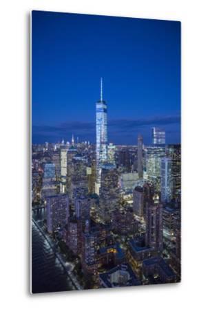 One World Trade Center and Lower Manhattan, New York City, New York, USA-Jon Arnold-Metal Print