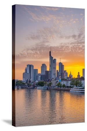 Germany, Hessen, Frankfurt Am Main, City Skyline across River Main-Alan Copson-Stretched Canvas Print
