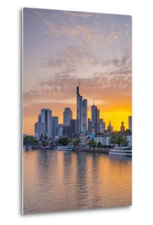Germany, Hessen, Frankfurt Am Main, City Skyline across River Main-Alan Copson-Metal Print