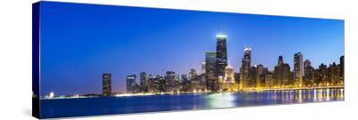 Usa, Illinois, Chicago. the City Skyline from North Avenue Beach.-Nick Ledger-Stretched Canvas Print