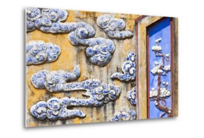 Vietnam, Hue, Hue Imperial City, Dien Tho Residence, Building Detail-Walter Bibikow-Metal Print