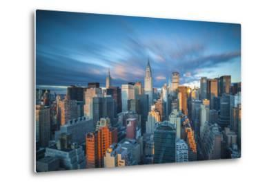 Chrysler Building and Empire State Building, Midtown Manhattan, New York City, New York, USA-Jon Arnold-Metal Print