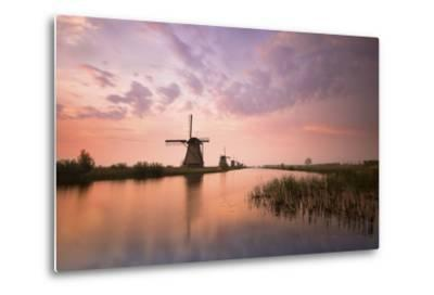 Kinderdijk, Netherlands the Windmills of Kinderdijk Resumed at Sunrise.-ClickAlps-Metal Print