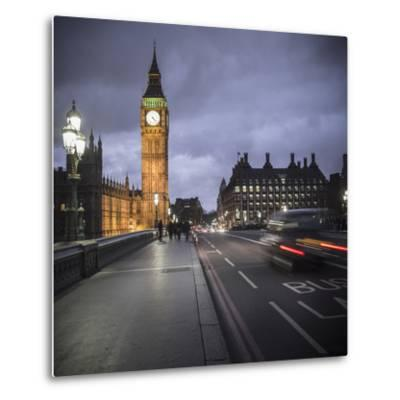 Big Ben, Houses of Parliament and Westminster Bridge, London, England-Jon Arnold-Metal Print