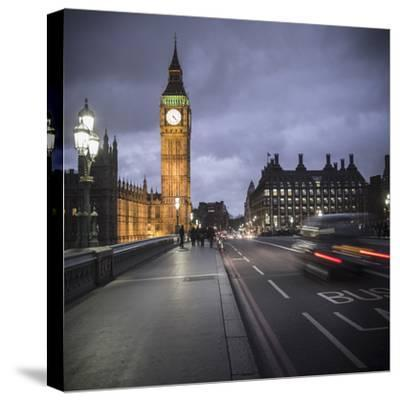 Big Ben, Houses of Parliament and Westminster Bridge, London, England-Jon Arnold-Stretched Canvas Print