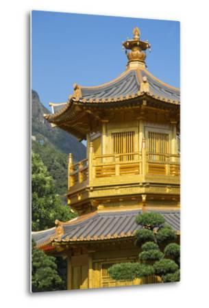 Pagoda in Nan Lian Garden at Chi Lin Nunnery, Diamond Hill, Kowloon, Hong Kong-Ian Trower-Metal Print
