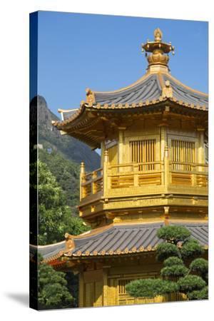 Pagoda in Nan Lian Garden at Chi Lin Nunnery, Diamond Hill, Kowloon, Hong Kong-Ian Trower-Stretched Canvas Print