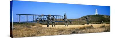 Wright Flyer Sculpture at Wright Brothers National Memorial, Kill Devil Hills, Kitty Hawk--Stretched Canvas Print