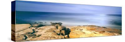 Scenic View of a Coast, Windansea Beach, La Jolla, San Diego, San Diego County, California, Usa--Stretched Canvas Print