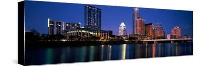 Skyscrapers at the Waterfront, Lady Bird Lake, Austin, Texas, Usa--Stretched Canvas Print