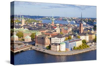Sweden, Stockholm - the Old Town and Riddarholmen--Stretched Canvas Print