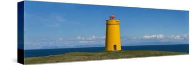 Lighthouse on the Coast, Holmbergsviti Lighthouse, Keflavik, Iceland--Stretched Canvas Print