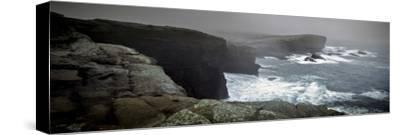 Storms Raging over Yesnaby Coastline, Orkney Islands, Scotland--Stretched Canvas Print