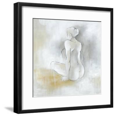 Lady Sitting-Rikki Drotar-Framed Premium Giclee Print