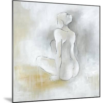 Lady Sitting-Rikki Drotar-Mounted Premium Giclee Print
