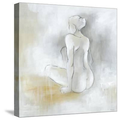 Lady Sitting-Rikki Drotar-Stretched Canvas Print