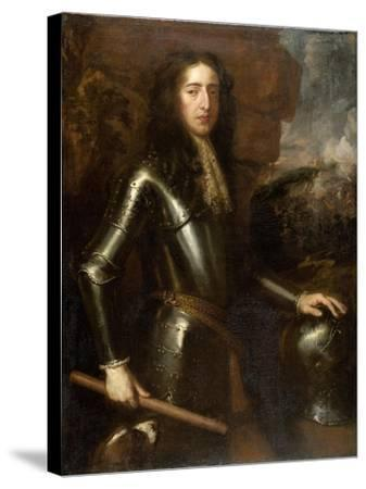 Portrait of William III-Willem Wissing-Stretched Canvas Print