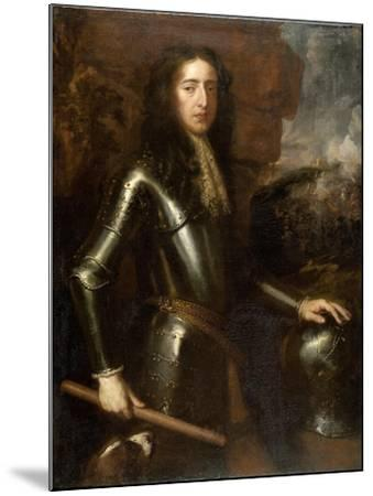 Portrait of William III-Willem Wissing-Mounted Art Print