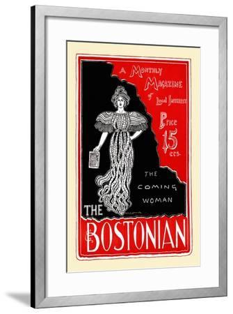 The Coming Woman, the Bostonian--Framed Art Print