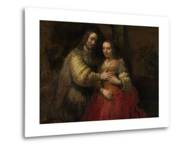 Portrait of a Couple as Isaac and Rebecca, known as 'The Jewish Bride'-Rembrandt van Rijn-Metal Print