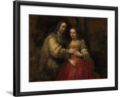 Portrait of a Couple as Isaac and Rebecca, known as 'The Jewish Bride'-Rembrandt van Rijn-Framed Art Print