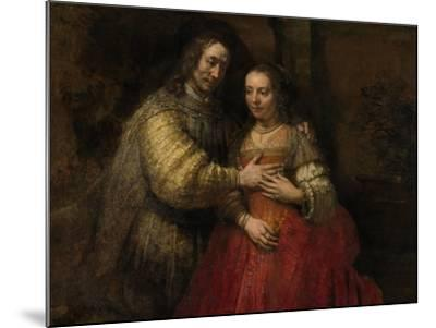 Portrait of a Couple as Isaac and Rebecca, known as 'The Jewish Bride'-Rembrandt van Rijn-Mounted Art Print