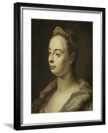 Portrait of a Woman,-Balthasar Denner-Framed Art Print