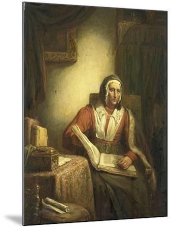 Old Woman Reading-George Gillis Haanen-Mounted Art Print