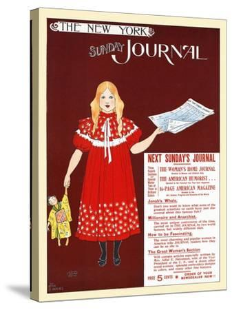 The New York Sunday Journal-Ernest Haskell-Stretched Canvas Print