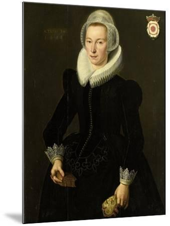 Portrait of Grietje Adriaensdr Grootes-Jacques Waben-Mounted Art Print