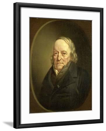 Portrait of Johannes Kinker, Poet and Philosopher, Professor at Liege-Jan Cornelis van Rossum-Framed Art Print