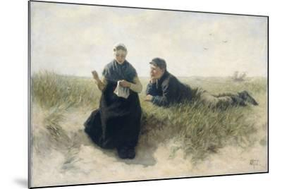 Boy and Girl in the Dunes-David Adolph Constant Artz-Mounted Art Print