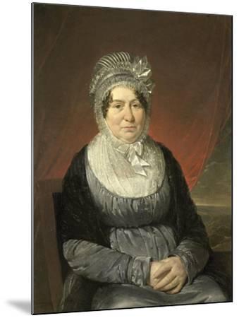 Portrait of Mrs. Brak-Haskenhoff-Cornelis Kruseman-Mounted Art Print