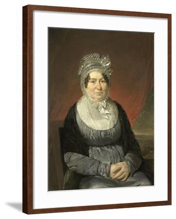 Portrait of Mrs. Brak-Haskenhoff-Cornelis Kruseman-Framed Art Print