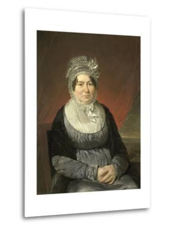 Portrait of Mrs. Brak-Haskenhoff-Cornelis Kruseman-Metal Print