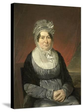 Portrait of Mrs. Brak-Haskenhoff-Cornelis Kruseman-Stretched Canvas Print