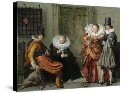 Elegant Couples Courting-Willem Pietersz Buytewech-Stretched Canvas Print