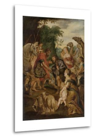 Reconciliation of Jacob and Esau-Peter Paul Rubens-Metal Print