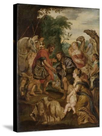 Reconciliation of Jacob and Esau-Peter Paul Rubens-Stretched Canvas Print