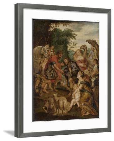 Reconciliation of Jacob and Esau-Peter Paul Rubens-Framed Art Print