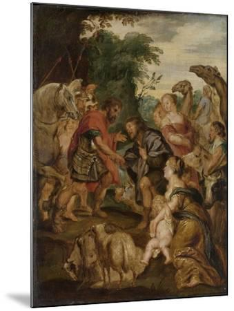 Reconciliation of Jacob and Esau-Peter Paul Rubens-Mounted Art Print