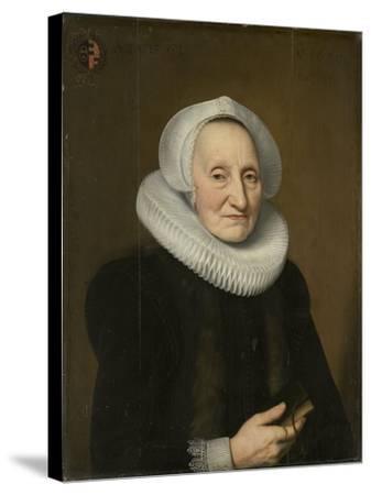 Portrait of Belia Claesdr- Bartholomeus Sarburgh & Willem Bartsius-Stretched Canvas Print